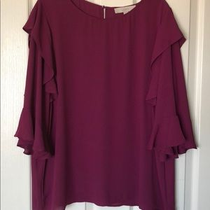 Gorgeous loft blouse with ruffle detail